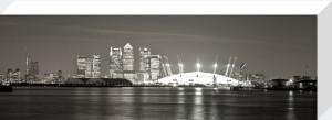 Canary Wharf and Millenium Dome by Assaf Frank