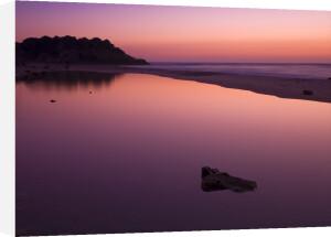 Sunset reflection in water, Palmachim Beach, Israel by Assaf Frank