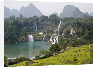 A natural view of hill and stream in Guangxi Province China by Assaf Frank