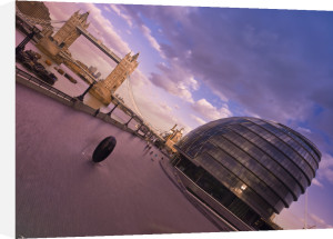 London Tower Bridge and Oval building by Assaf Frank