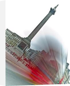 Trafalgar Square London Bus by Assaf Frank
