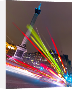 Trafalgar Square London Bus Strip Lights (I) by Assaf Frank
