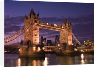 Tower Bridge London at Night Dusk by Assaf Frank