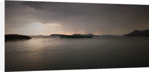 Panoramic view of small Islands at dusk, Croatia by Assaf Frank