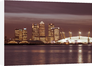 Canary Wharf and the Millennium Dome at night 3 by Assaf Frank