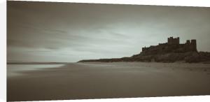 Bamburgh Castle, Northumberland coast line by Assaf Frank