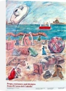 Props, Costumes & Designs from Il Corso del Coltello by Claes Oldenburg