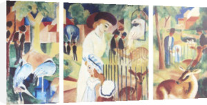 Zoo Triptich by August Macke