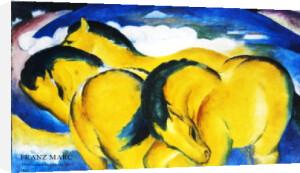 Die kleinen gelben Pferde by Franz Marc