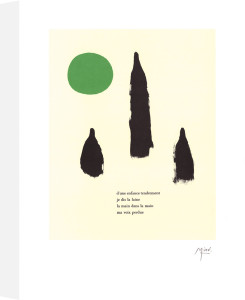 Illustrated Poems-'Parler Seul' VI by Joan Miro
