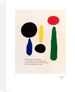 Illustrated Poems-'Parler Seul' XI by Joan Miro