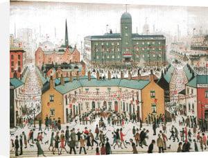 V.E. Day Celebrations by L S Lowry