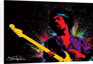 Jimi Hendrix (Paint) by Giant