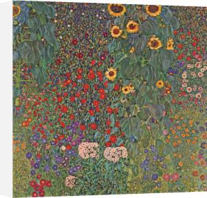 Farm Garden with Sunflowers, around 1905 1906 by Gustav Klimt