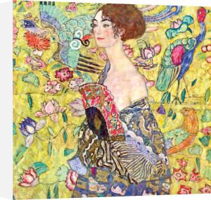 Lady with Fan by Gustav Klimt