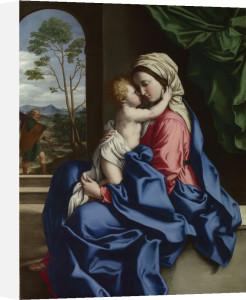 The Virgin and Child Embracing by Giovanni Battista Salvi Da Sassoferrato
