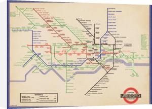 London Underground (Vintage 1936 Map) by H.C. Beck