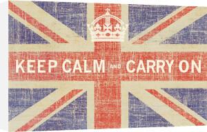 Keep Calm Flag Print by Ben James