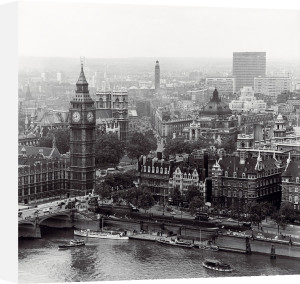 City of Westminster from the South Bank of The Thames, 1963 by Henry Grant