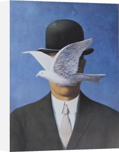 L'homme au chapeau melon by Rene Magritte