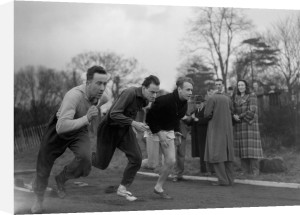 Athletes training at Tooting Bec, 1952 by Mirrorpix