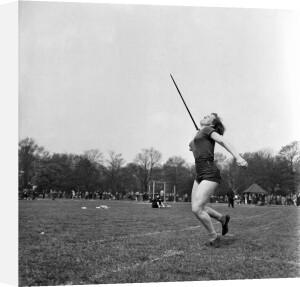 Throwing the javelin, Hercules AC 1953 by Mirrorpix