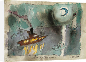 Once in a blue moon, 1938 by Lyonel Feininger