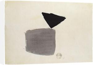 Viereck und Dreieck 4.10.48, 1948 by Julius Bissier