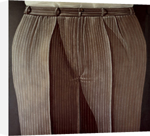 Striped Trousers, 1969 by Domenico Gnoli