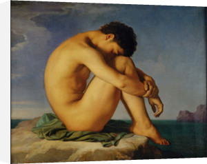 Young Male Nude by Jean-Hippolyte Flandrin