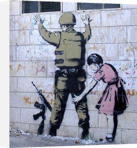 Stop and Search Soldier by Street Art