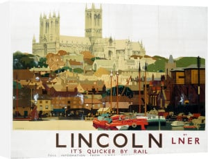 Lincoln - Cathedral with Boats by National Railway Museum