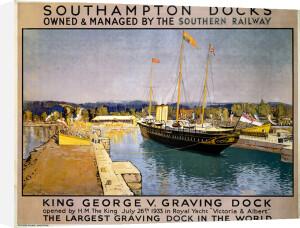 Southampton Docks - King George V Graving Dock by National Railway Museum