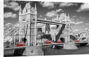 London - Tower Bridge Buses by Anonymous