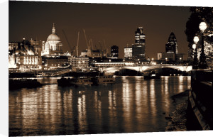 St Pauls and Thames (sepia) by Panorama London