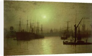 Nightfall Down the Thames by John Atkinson Grimshaw