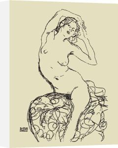 Seated nude, 1914-16 by Gustav Klimt