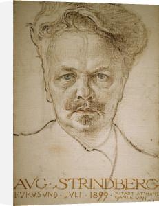 August Strindberg by Carl Larsson