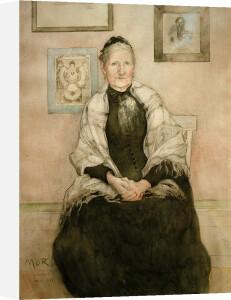 Johanna Karolina Larsson, the artist's mother 1893 by Carl Larsson