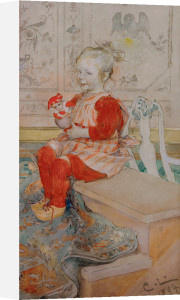 Lisbeth, the artist's daughter, aged three 1894 by Carl Larsson