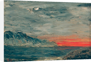 Sunset 1892 by August Strindberg