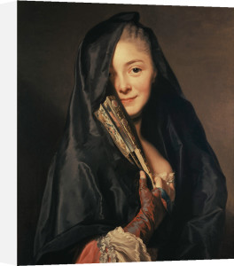 Lady with veil (Portrait of Marie Suzanne) 1768 by Alexander Roslin