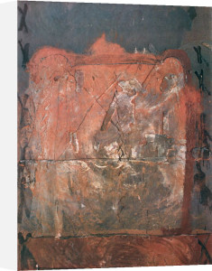 Relief in Brick Color by Antoni Tapies