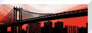 Manhattan Bridge Aura by Erin Clark