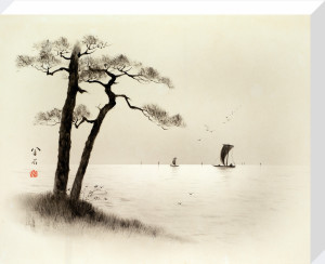Pinus tabuliformis with Fishing Boats by Anonymous Chinese Artist