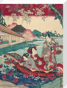 Scene from a Genji parody by Taiyensai Yoshimaru