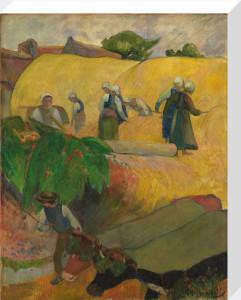 Haymaking by Paul Gauguin
