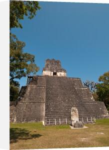 Temple II, Tikal mayan archaeological site, Guatemala by Sergio Pitamitz