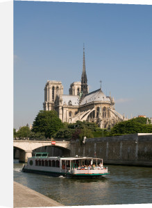 River Seine and Notre Dame Cathedral, Paris, France by Sergio Pitamitz