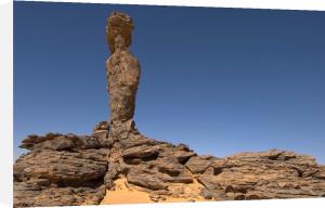 The Finger of Allah rock formation, Akakus, Sahara desert, Fezzan, Libya by Sergio Pitamitz